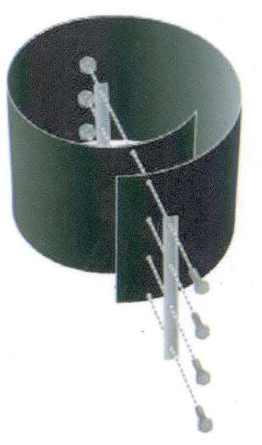 verschlu schiene 70 cm zu wurzelsperre bambussperre. Black Bedroom Furniture Sets. Home Design Ideas
