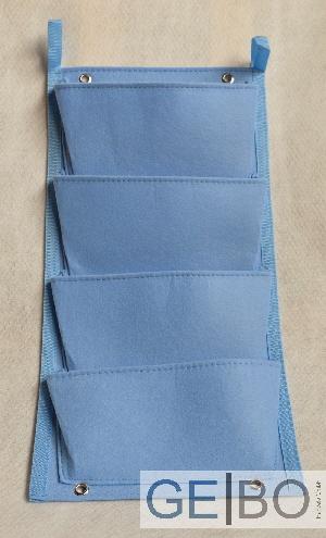 pflanzenwand blau pflanzen wand pflanztasche blumenkasten balkonkasten 4taschen ebay. Black Bedroom Furniture Sets. Home Design Ideas