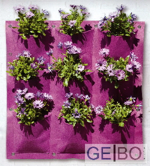 pflanzenwand lila pflanzen wand pflanztasche pflanzbeutel pflanzkorb 9 taschen ebay. Black Bedroom Furniture Sets. Home Design Ideas
